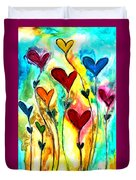 Garden Of Love Duvet Cover