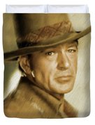 Gary Cooper, Vintage Actor Duvet Cover