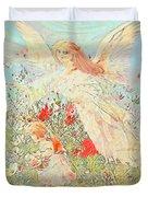 Gathering Flowers  Duvet Cover