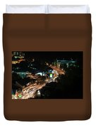 Gatlinburg, Tennessee At Night From The Space Needle Duvet Cover