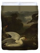 Geese And Ducks Duvet Cover