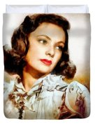 Gene Tierney Hollywood Actress Duvet Cover