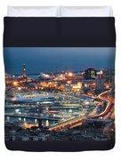Genoa Blue Hour Duvet Cover