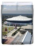 Georgia Dome In Atlanta Duvet Cover