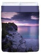 Georgian Bay Cliffs At Sunset Duvet Cover