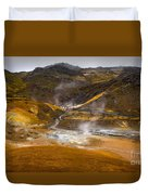 Geothermal Area Duvet Cover