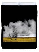 Geysers And Steam Rising In Yellowstone National Park Duvet Cover