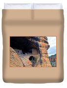 Gila Cliff Dwellings National Monument Duvet Cover