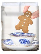 Gingerbread In Teacup Duvet Cover