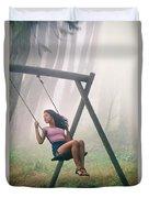 Girl In Swing Duvet Cover