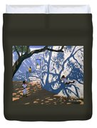 Girl On A Swing India Duvet Cover by Andrew Macara