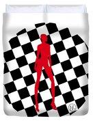 Girls. Red. II Duvet Cover