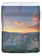Glacier Point Sunset  Duvet Cover