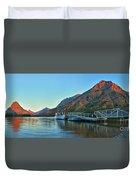 Glacier Two Medicine Sunrise  Duvet Cover
