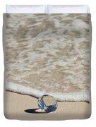 Glass Diamond On The Beach Duvet Cover