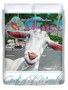 Goats Of St. Maarten- Sofie Duvet Cover