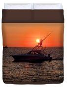 Going Fishing - Silhouette Duvet Cover