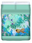 1 Gold Fish Duvet Cover