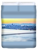 Golden Gate Bridge San Francisco California West Coast Sunrise Duvet Cover