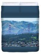 Golden Gate Bridge View From Twin Peaks San Francisco Duvet Cover