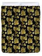 Golden Tropics Pattern Duvet Cover