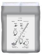 Golf Club Patent 1910 Duvet Cover