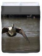 Goose In Flight Duvet Cover