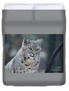 Gorgeous Bobcat's Face Up Close Duvet Cover