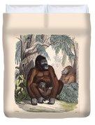 Gorillas Duvet Cover