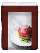 Gourmet Novelty Chicken Burger In Beetroot Bun Duvet Cover