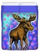 Graffiti Moose Duvet Cover