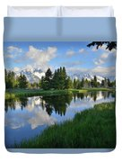 Grand Teton Reflection Duvet Cover