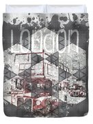 Graphic Art London Streetscene Duvet Cover