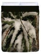 Grass In Snow 2 Duvet Cover
