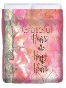 Grateful Hearts Duvet Cover
