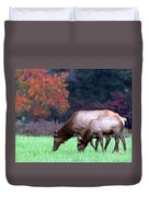 Grazing Together Duvet Cover