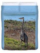Great Blue Heron - 12 Duvet Cover
