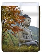 Great Buddha In Autumn Duvet Cover