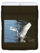 Great Egret Wings Duvet Cover