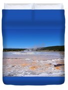 Great Fountain Geyser In Yellowstone National Park Duvet Cover