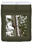 Great Spotted Woodpeckers Duvet Cover