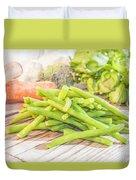Green Bean Duvet Cover
