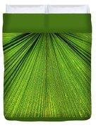 Green Lines Duvet Cover