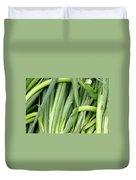 Green Onion Market Bergen Duvet Cover