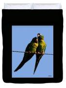 Green Parrot Duvet Cover