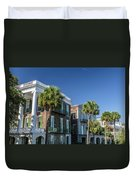 Columns By The Sea Duvet Cover