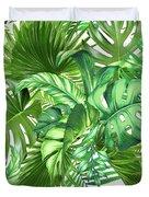 Green Tropic  Duvet Cover