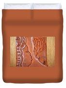 Greeting - Tile Duvet Cover