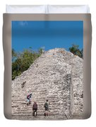 Grupo Nohoch Mul At The Coba Ruins  Duvet Cover