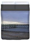 Gulf Beach Pier Duvet Cover